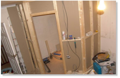 Construction of ensuite within Master Bedroom